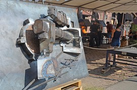 The finished 2.5-D relief, which was created during the young blacksmiths´ meeting at the iron hammer in Hasloch.